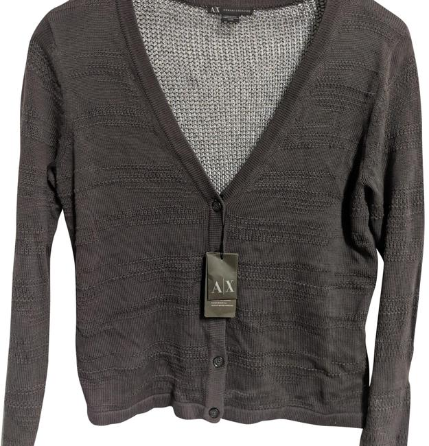 A|X Armani Exchange A/X Button Up Knit Gray Sweater A|X Armani Exchange A/X Button Up Knit Gray Sweater Image 1