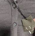 A|X Armani Exchange A/X Button Up Knit Gray Sweater A|X Armani Exchange A/X Button Up Knit Gray Sweater Image 4