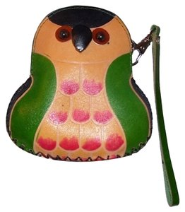 unknown Leather Owl Coin Purse/Wristlet
