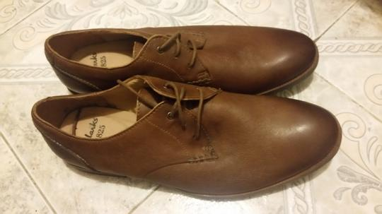 Clarks #leather #comfort Insole brown Flats Image 1