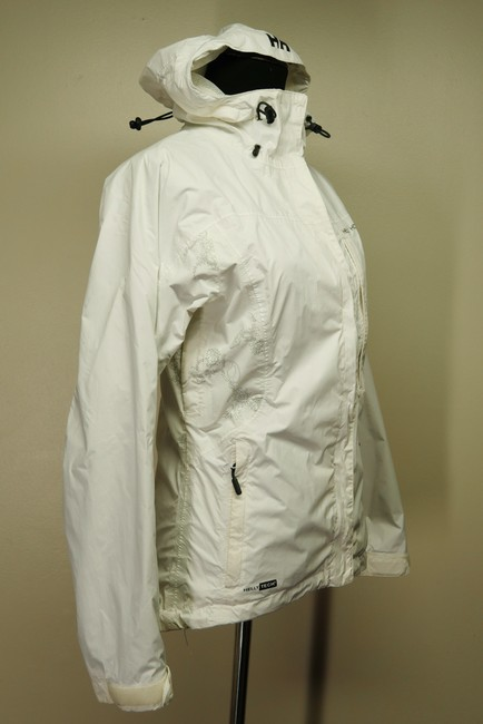 Helly Hansen Packable Nylon Water-repellant Windproof White Jacket Image 1