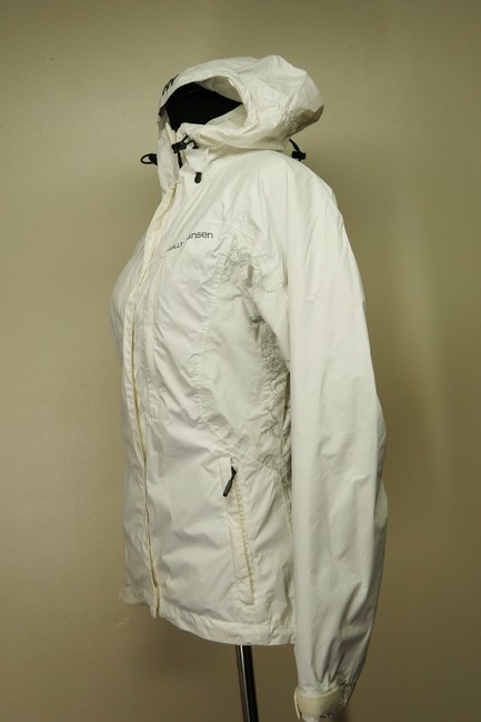 Helly Hansen Packable Nylon Water-repellant Windproof White Jacket Image 2