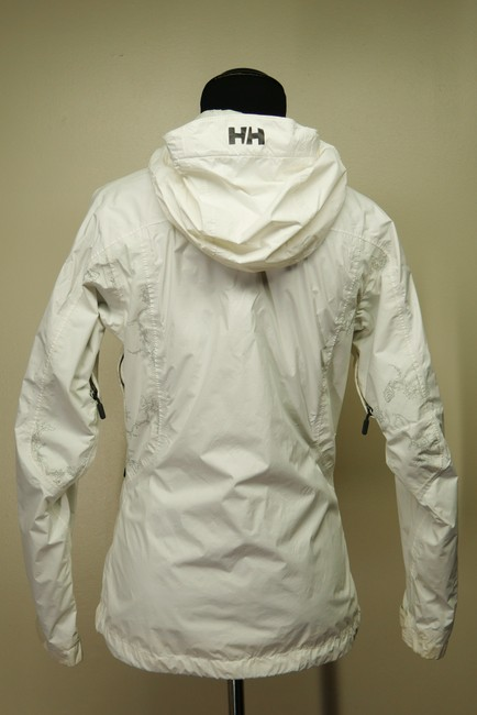 Helly Hansen Packable Nylon Water-repellant Windproof White Jacket Image 3