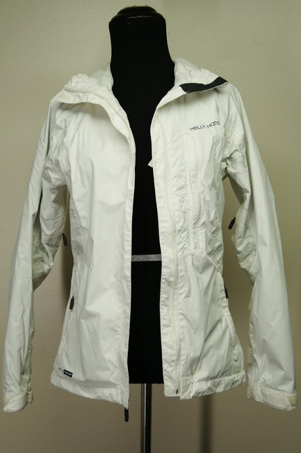 Helly Hansen Packable Nylon Water-repellant Windproof White Jacket Image 4