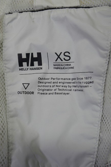 Helly Hansen Packable Nylon Water-repellant Windproof White Jacket Image 9
