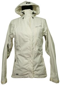 Helly Hansen Packable Nylon Water-repellant Windproof White Jacket