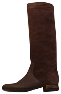 Gucci Brown with Bamboo Heel Boots