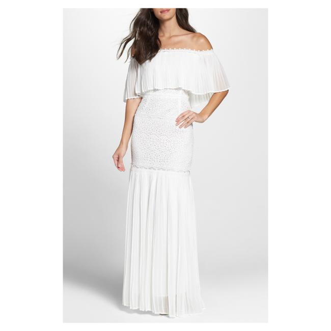 Foxiedox Dina Off Shoulder Pleated Long Casual Maxi Dress Size 4 (S) Foxiedox Dina Off Shoulder Pleated Long Casual Maxi Dress Size 4 (S) Image 1