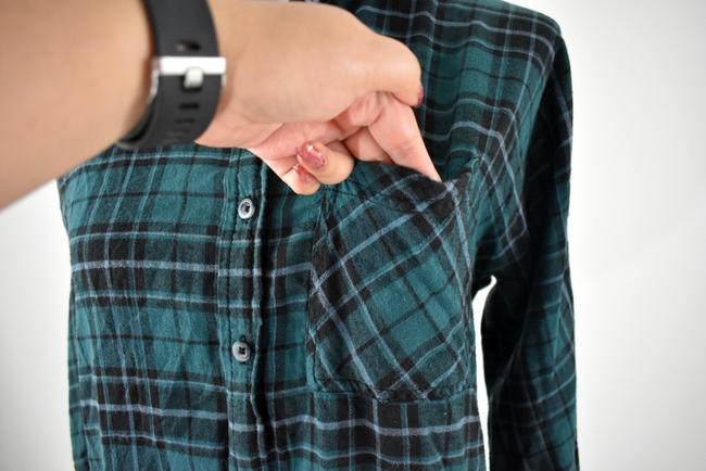 Urban Outfitters Plaid Lace Pocket Hipster Preppy Button Down Shirt green, black Image 6