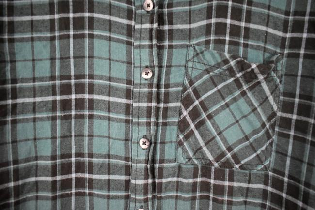 Urban Outfitters Plaid Lace Pocket Hipster Preppy Button Down Shirt green, black Image 7