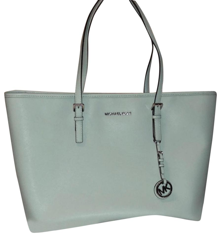 96e196924f01 MICHAEL Michael Kors Jet Set Mint Saffiano Leather Tote - Tradesy