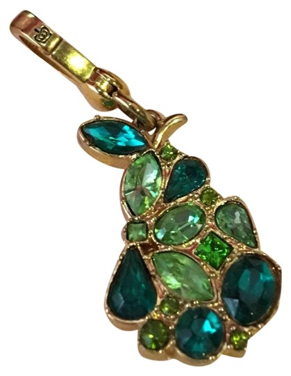 Preload https://img-static.tradesy.com/item/24633360/juicy-couture-gold-new-super-rare-green-and-teal-stone-pear-stone-drop-necklace-or-bracelet-charm-0-1-540-540.jpg