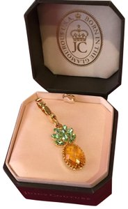 Juicy Couture NEW! JUICY COUTURE SUPER RARE GREEN AND YELLOW STONE PINEAPPLE STONE DROP NECKLACE OR BRACELET CHARM!!