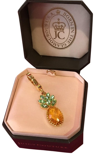 Juicy Couture Yellow New Super Rare Green and Stone Pineapple Stone Drop Necklace Or Bracelet Charm Juicy Couture Yellow New Super Rare Green and Stone Pineapple Stone Drop Necklace Or Bracelet Charm Image 1