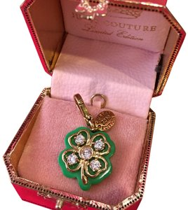 Juicy Couture NWT JUICY COUTURE 2010 LIMITED EDITION PAVÉ STONE 4-LEAF CLOVER NECKLACE OR BRACELET CHARM!!