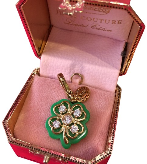 Preload https://img-static.tradesy.com/item/24633392/juicy-couture-green-2010-limited-edition-pave-stone-4-leaf-clover-necklace-or-bracelet-charm-0-1-540-540.jpg