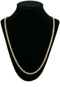 Twist Rope Chain Necklace 44.6 Grams Twist Rope Chain Necklace