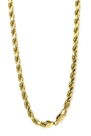 Twist Rope Chain Necklace 44.6 Grams Twist Rope Chain Necklace Image 2