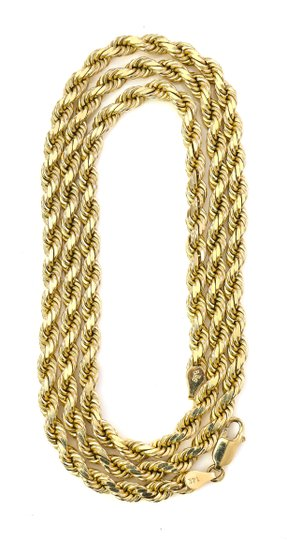 Twist Rope Chain Necklace 44.6 Grams Twist Rope Chain Necklace Image 5
