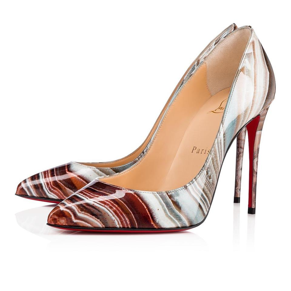 532f4f2a558c Christian Louboutin Stiletto Pigalle Follies Patent Leather Heels Stiped  Multi Pumps Image 0 ...