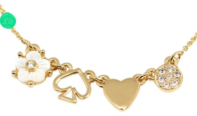 Kate Spade Clear / Gold Mini Things Row Tiny Charm Necklace Kate Spade Clear / Gold Mini Things Row Tiny Charm Necklace Image 1