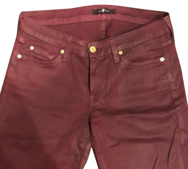 Preload https://img-static.tradesy.com/item/24633515/7-for-all-mankind-burgundy-coated-waxed-skinny-jeans-size-4-s-27-0-1-650-650.jpg