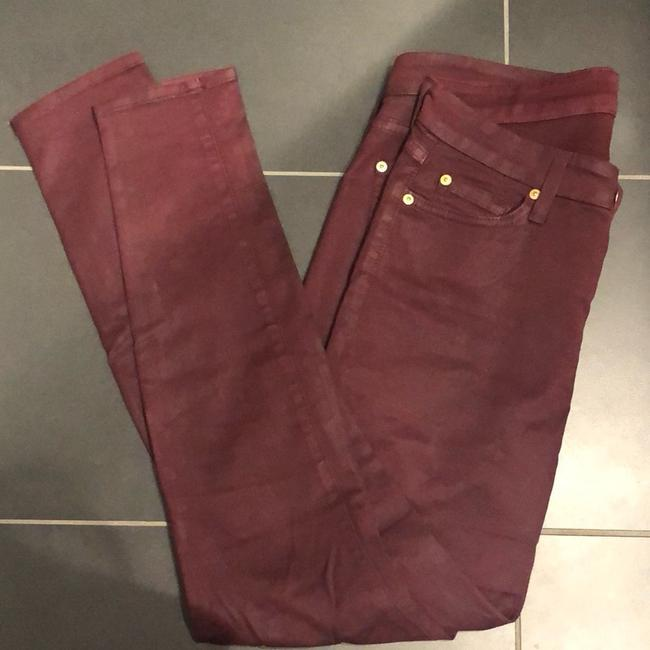 7 For All Mankind Skinny Jeans-Coated Image 4