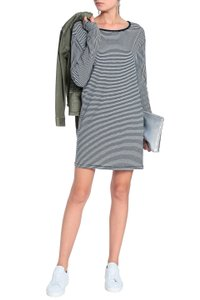 Rag & Bone short dress Navy Striped Cotton Longsleeve White on Tradesy