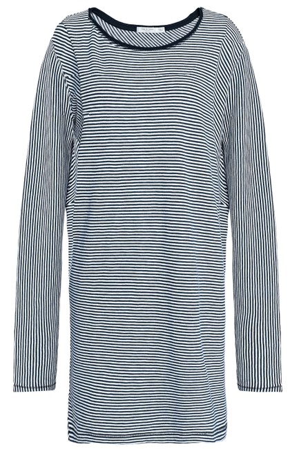 Rag & Bone short dress Navy Striped Cotton Longsleeve White on Tradesy Image 4