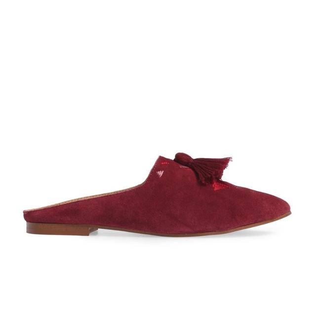 Soludos Wine Embroidered Mule Flats Size US 6 Regular (M, B) Soludos Wine Embroidered Mule Flats Size US 6 Regular (M, B) Image 1