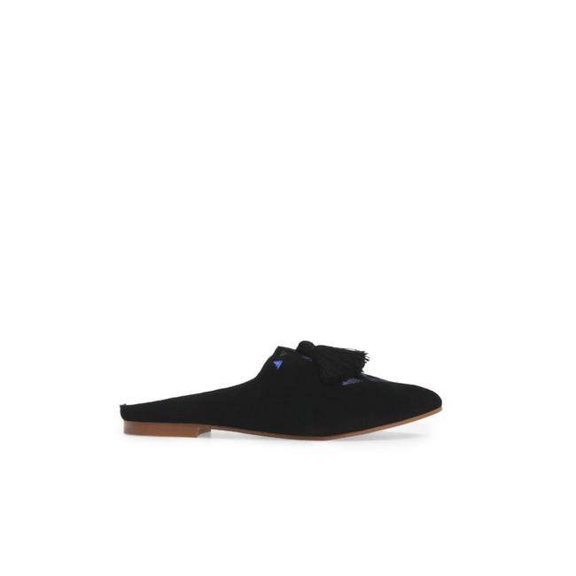 Soludos Black Embroidered Mule Flats Size US 7 Regular (M, B) Soludos Black Embroidered Mule Flats Size US 7 Regular (M, B) Image 1