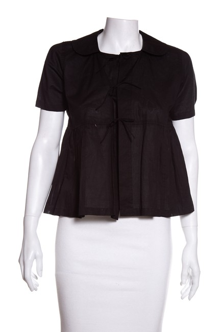 Preload https://img-static.tradesy.com/item/24633702/comme-des-garcons-black-peplum-bow-blouse-size-2-xs-0-0-650-650.jpg