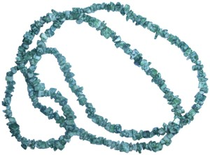 unbranded Long strand of genuine green tree agate gemstones beaded necklace