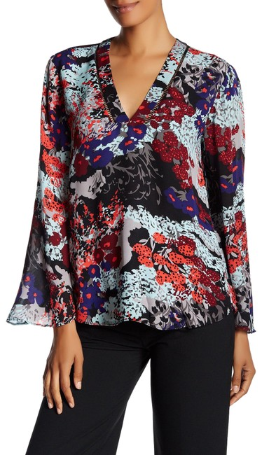 Preload https://img-static.tradesy.com/item/24633810/parker-multicolor-bliss-flowy-printed-bell-sleeve-blouse-size-4-s-0-1-650-650.jpg