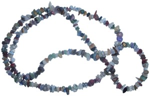 unbranded Multi-stone sem-precious gemstone chip beaded necklace strand