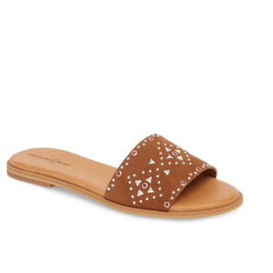 Treasure & Bond COGNAC STUDDED SUEDE Sandals