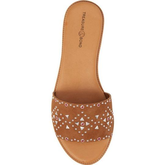 Treasure & Bond COGNAC STUDDED SUEDE Sandals Image 2