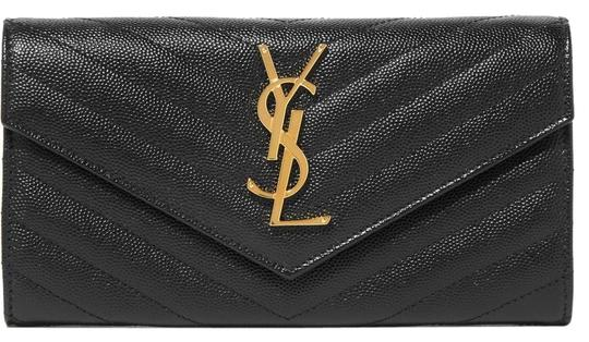 Preload https://img-static.tradesy.com/item/24633862/saint-laurent-black-quilted-textured-leather-wallet-0-1-540-540.jpg