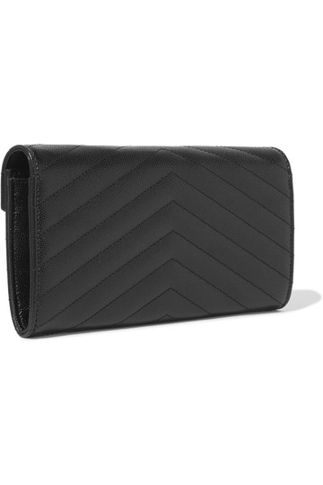 Saint Laurent Quilted textured-leather wallet Image 1
