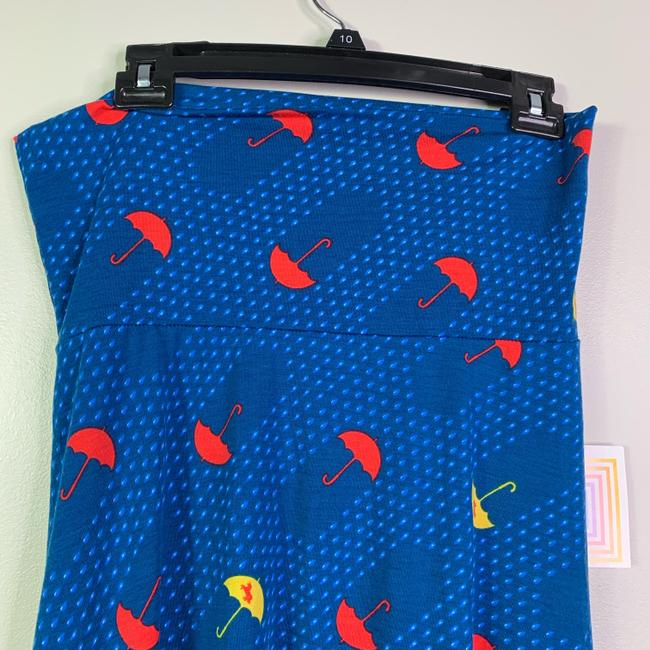 LuLaRoe Umbrella Unicorn Maxi Skirt Blue Image 8