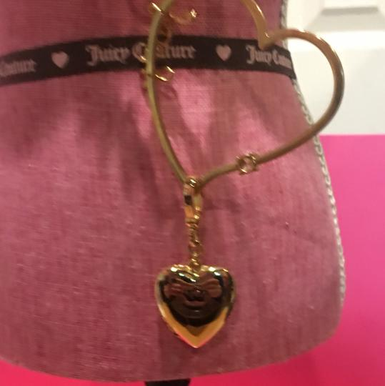 Juicy Couture NEW! JUICY COUTURE 2005 Long Gold Link NECKLACE with RARE HEART SPINNER CHARM!! Image 3