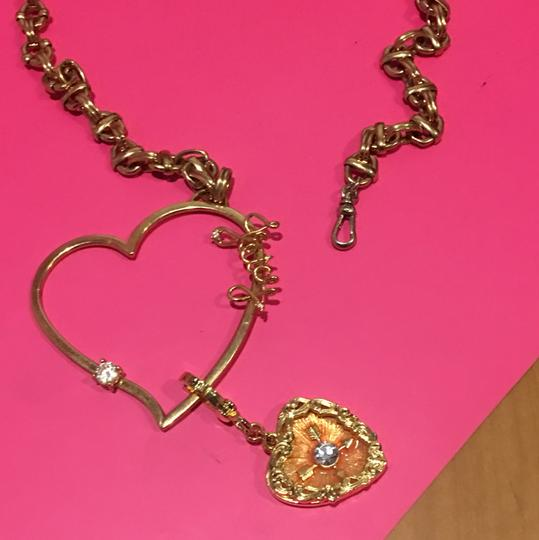 Juicy Couture NEW! JUICY COUTURE 2005 Long Gold Link NECKLACE with RARE HEART SPINNER CHARM!! Image 5