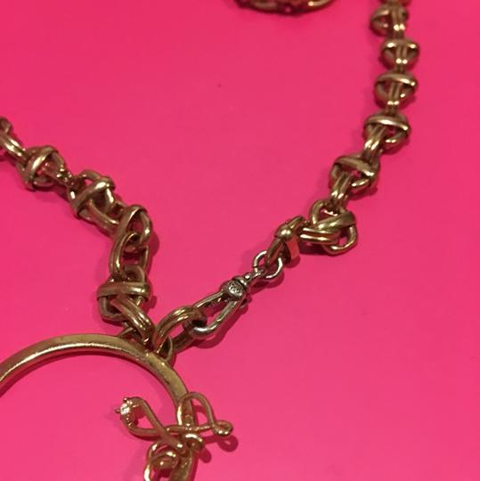 Juicy Couture NEW! JUICY COUTURE 2005 Long Gold Link NECKLACE with RARE HEART SPINNER CHARM!! Image 6