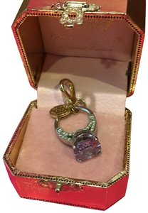 Juicy Couture NEW!! JUICY COUTURE 2008 LIMITED EDITION by NEIMAN MARCUS PURPLE LILAC & GOLD ENGAGEMENT RING CHARM.