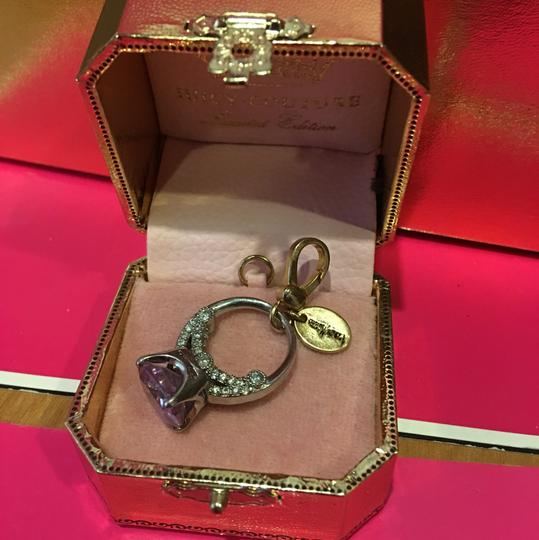 Juicy Couture NEW!! JUICY COUTURE 2008 LIMITED EDITION by NEIMAN MARCUS PURPLE LILAC & GOLD ENGAGEMENT RING CHARM. Image 2