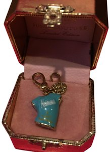 Juicy Couture NEW!! JUICY COUTURE 2008 LIMITED EDITION by NEIMAN MARCUS BLUE & GOLD T-SHIRT CHARM.