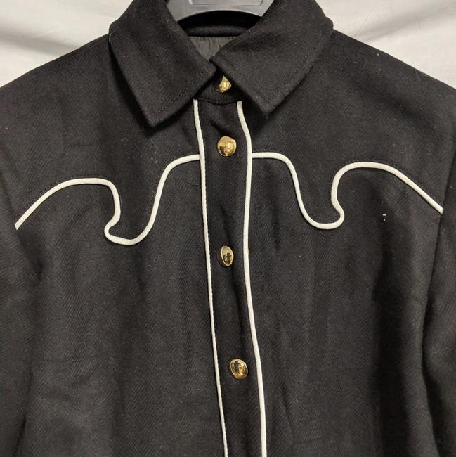 Moschino Wester Style Button Down Shirt Black white trim Image 1