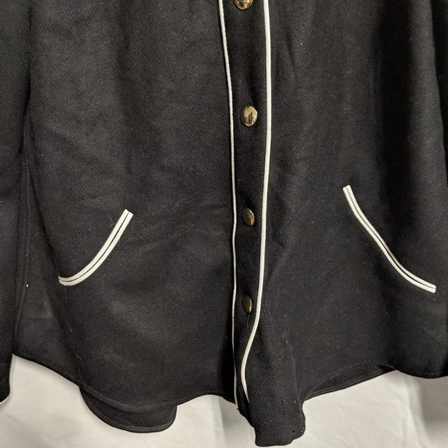 Moschino Wester Style Button Down Shirt Black white trim Image 2