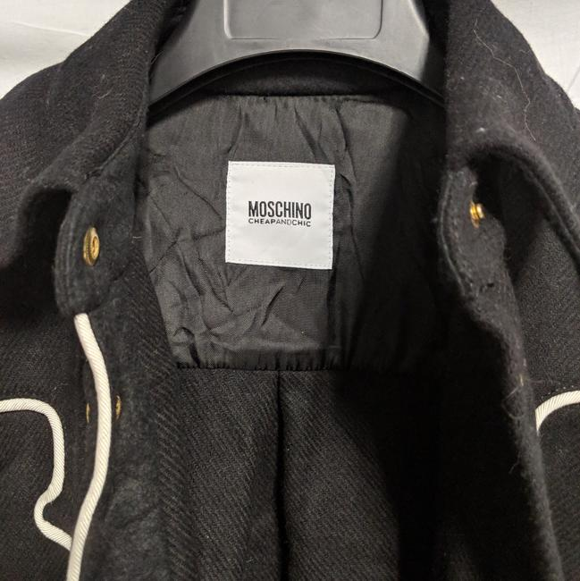 Moschino Wester Style Button Down Shirt Black white trim Image 4