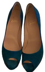 Christian Louboutin Very Prive 120 beautiful blue turquoise Pumps